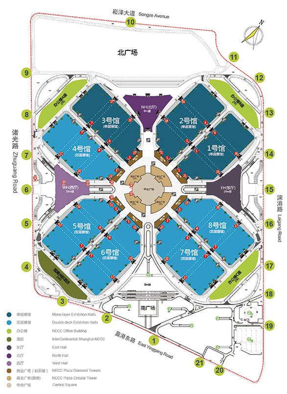 国家会展中心展馆图平面图